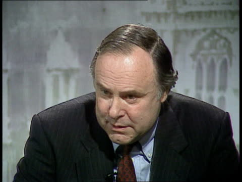 yugoslavian refugees deported cms charles wardle mp intvwd sof if the refugees have been to a country before entering britain they must be sent there... - deported stock videos & royalty-free footage