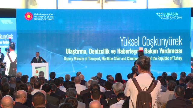 yuksel coskunyurek turkish deputy minister for transportation maritime and telecommunications oleg bocharov russian deputy minister of industry and... - transportation event stock videos and b-roll footage