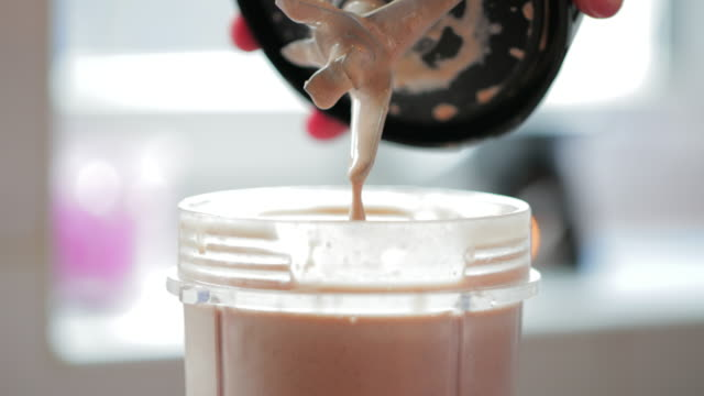 yummy protein shake - protein stock videos & royalty-free footage