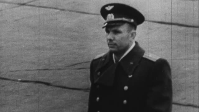Yuri Gagarin is given a heroes welcome