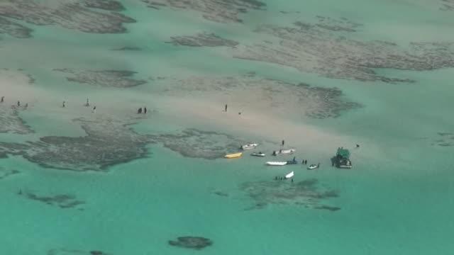 aerial, yurigahama in yoron island, kagoshima, japan - low tide stock videos & royalty-free footage
