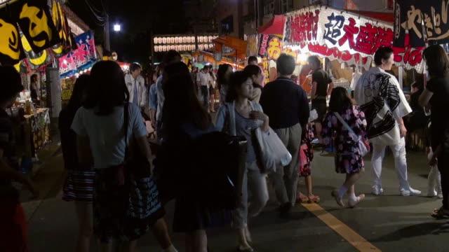 vídeos de stock, filmes e b-roll de yushima tenjin festival - festival tradicional