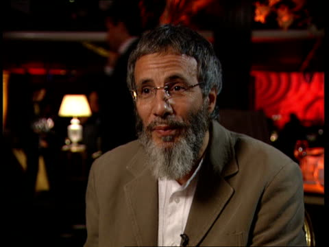 Yusuf Islam aka Cat Stevens peforms after 25 years in third world fundraiser Interview Ysuf Islam interview continues SOT The guitar itself was...
