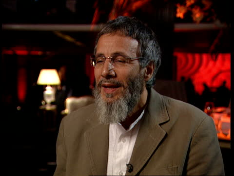 Yusuf Islam aka Cat Stevens peforms after 25 years in third world fundraiser Interview Yusuf Islam interview continues SOT Prior cautiousness in...