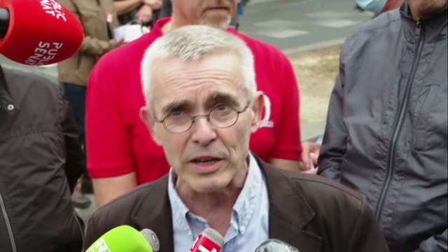 yves veyrier, the general secretary of france's force ouvriere union, says the french government's response to demands by hospital and healthcare... - secretary general stock videos & royalty-free footage
