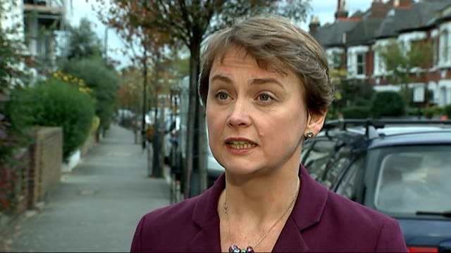 London EXT Yvette Cooper MP interview SOT