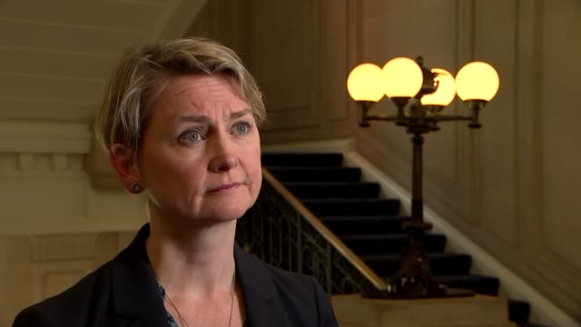 London Westminster INT Yvette Cooper MP interview SOT