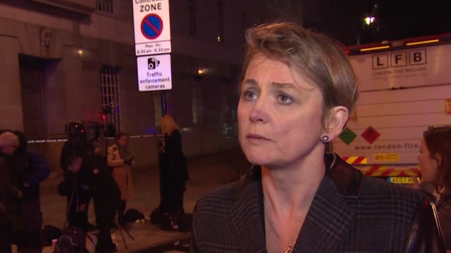 yvette cooper saying london will go about its business tomorrow after the westminster terror attacks - überfahren stock-videos und b-roll-filmmaterial