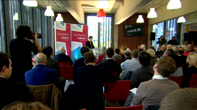 Yvette Cooper speech cutaways on Labour immigration plans ENGLAND London Coin St Conference Centre INT Cutaways from Yvette Cooper MP speech and...