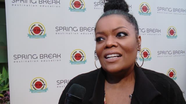 INTERVIEW Yvette Nicole Brown on education at City Year Los Angeles Spring Break in Los Angeles CA