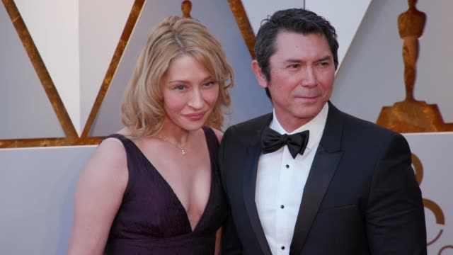 yvonne boismier phillips and lou diamond phillips at 90th academy awards arrivals 4k footage at dolby theatre on march 04 2018 in hollywood california - yvonne boismier phillips stock videos & royalty-free footage