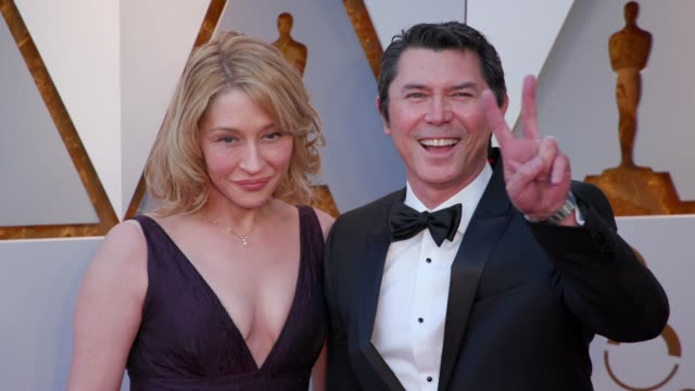 yvonne boismier phillips and lou diamond phillips at the 90th academy awards arrivals at dolby theatre on march 04 2018 in hollywood california - yvonne boismier phillips stock videos & royalty-free footage