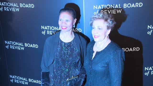 Yvonne Cagle and guest at National Board Of Review Gala at Cipriani 42nd Street on January 04 2017 in New York City