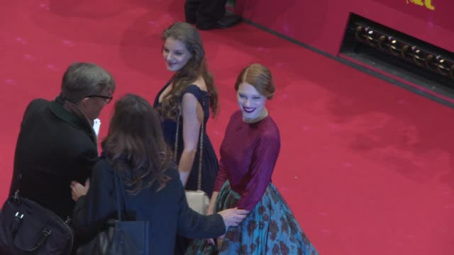 BROLL Yvonne Catterfeld Lea Seydoux Christophe Gans Andre Dussollier at 'Beauty and The Beast' Red Carpet at Berlinale Palast on February 14 2014 in...