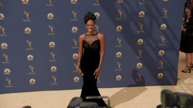 yvonne orji at the 70th emmy awards arrivals at microsoft theater on september 17 2018 in los angeles california - 70th annual primetime emmy awards stock videos and b-roll footage