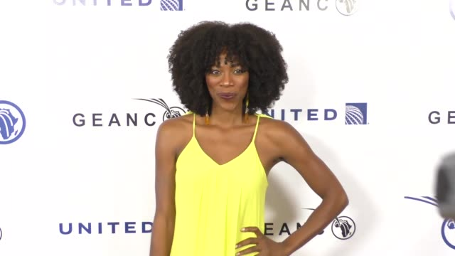yvonne orji at the geanco foundation's annual hollywood fundraiser at pacific design center in west hollywood at celebrity sightings in los angeles... - pacific design center stock videos and b-roll footage
