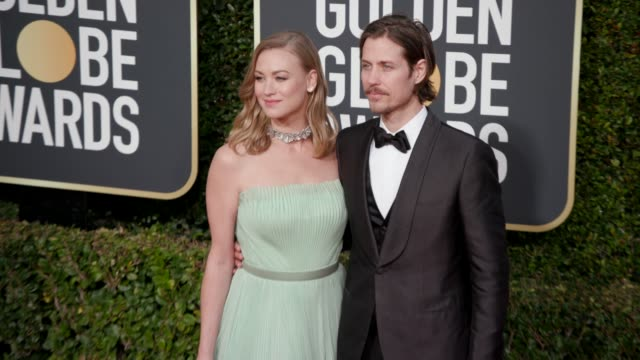 yvonne strahovski and tim loden at the 76th annual golden globe awards at the beverly hilton hotel on january 06 2019 in beverly hills california... - golden globe awards stock videos & royalty-free footage