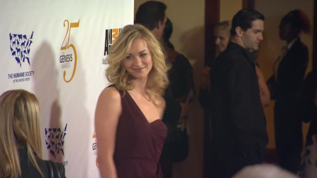 yvonne strahovski at the the 25th anniversary genesis awards presented by the humane society of the united states at century city ca - century city stock videos & royalty-free footage
