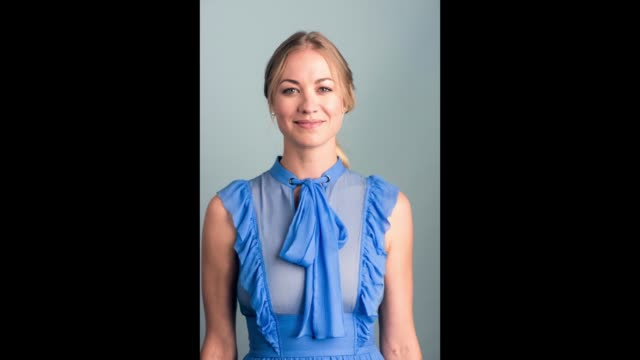 yvonne strahovski from hulu's 'the handmaid's tale' poses for a portrait bbc america bafta los angeles tv tea party 2017 at the the beverly hilton... - bafta la tea party stock videos and b-roll footage