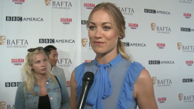 INTERVIEW Yvonne Strahovski on the BAFTA TV Tea Party on the Emmys at BAFTA LOS ANGELES BBC AMERICA TV TEA PARTY 2017 in Los Angeles CA