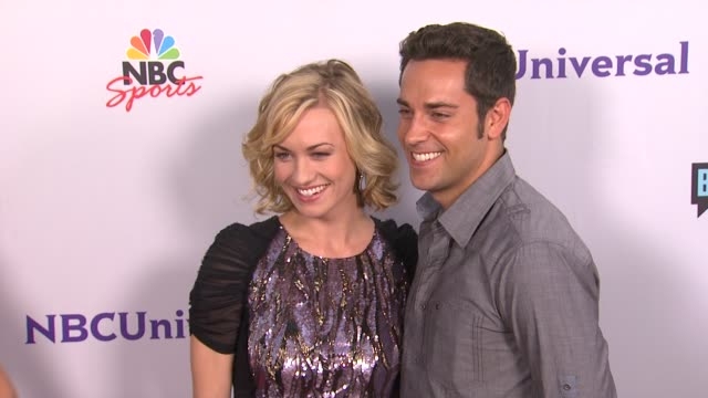 Yvonne Strahovski Zachary Levi at the NBC Universal Press Tour AllStar Party at Los Angeles CA