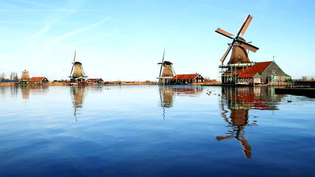 zaanse schans, amsterdam - mill stock videos & royalty-free footage
