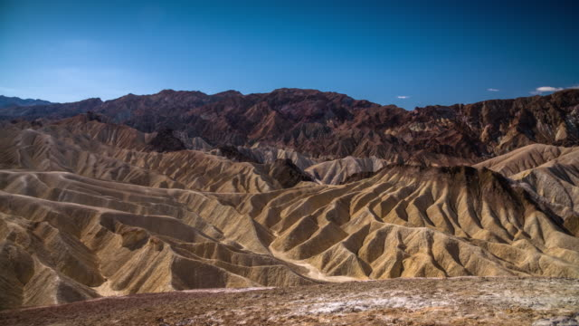 zabriskie point, death valley national park, usa - zabriskie point stock videos & royalty-free footage