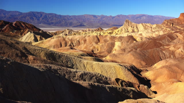 zabriskie point in death valley - zabriskie point stock videos & royalty-free footage