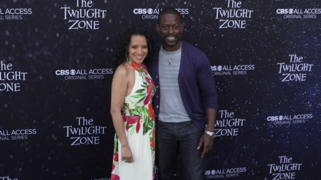 "zabryna guevara and sterling k. brown at the premiere of ""the twilight zone' at the harmony gold preview house and theater on march 26, 2019 in... - harmony gold preview theatre stock videos & royalty-free footage"