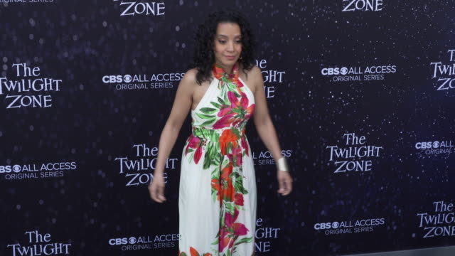 "zabryna guevara at the premiere of ""the twilight zone' at the harmony gold preview house and theater on march 26, 2019 in hollywood, california. - harmony gold preview theatre stock videos & royalty-free footage"