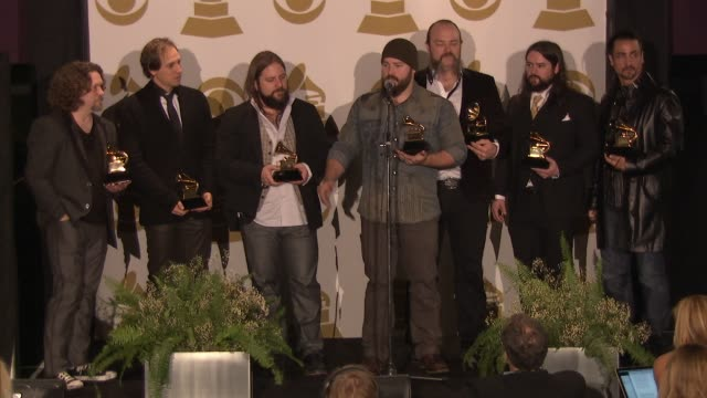 SPEECH Zac Brown Band on their heroes at The 55th Annual GRAMMY Awards Press Room 2/10/2013 in Los Angeles CA