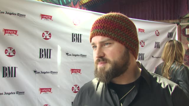 Zac Brown on being a part of the panel on being recognized for a song on how the music industry might change in 2010 on song vs production at the...