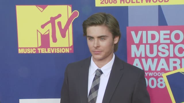 Zac Efron at the 2008 MTV Video Music Awards at Los Angeles CA