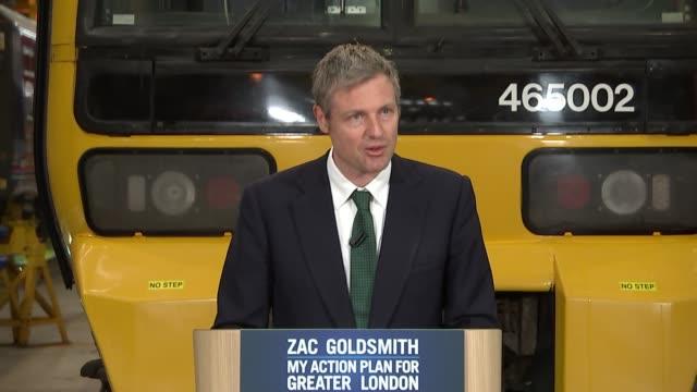 zac goldsmith launches his transport manifesto; england: ilford / whitechapel: int zac goldsmith mp into room / introduction / zac goldsmith mp... - ilford stock videos & royalty-free footage