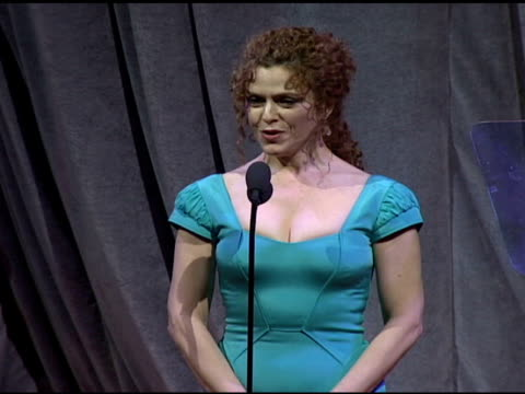 zac posen and bernadette peters present fifi award at the fragrance foundation presents 36th annual fifi awards and celebration at the park avenue... - バーナデット ピータース点の映像素材/bロール