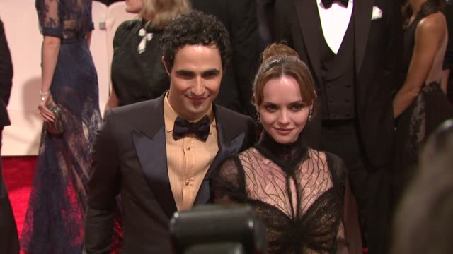 Zac Posen and Christina Ricci at the 'Alexander McQueen Savage Beauty' Costume Institute Gala At The Metropolitan Museum Of Art at New York NY