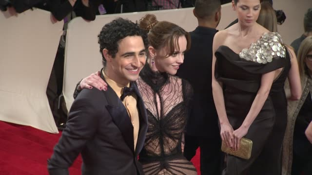 zac posen and christina ricci at the 'alexander mcqueen: savage beauty' costume institute gala at the metropolitan museum of art at new york ny. - christina ricci stock videos & royalty-free footage