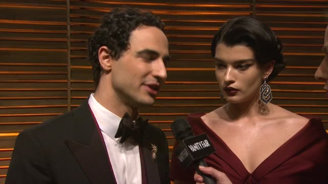 zac posen and crystal renn at the 2014 vanity fair oscar party hosted by graydon carter - arrivals on march 02, 2014 in west hollywood, california. - oscar party stock videos & royalty-free footage