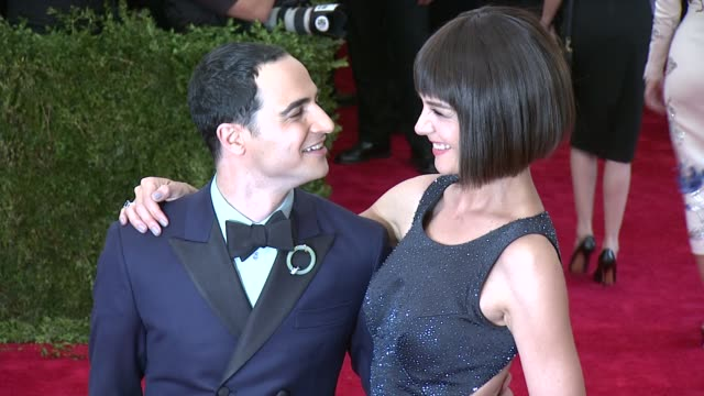 Zac Posen and Katie Holmes at China Through The Looking Glass Costume Institute Benefit Gala Arrivals at Metropolitan Museum of Art on May 04 2015 in...