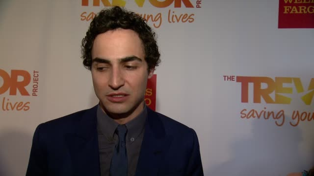 interview zac posen speaks that it is important for him to be there as a gay man and support people in that moment of selfcreation it is important to... - the trevor project stock videos and b-roll footage