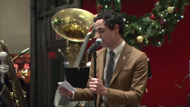 speech zac posen thanks brooks brothers ceo claudio del vecchio for his support of st jude announces the upcoming wynton marsalis and vince giordano... - orthographic symbol stock videos and b-roll footage