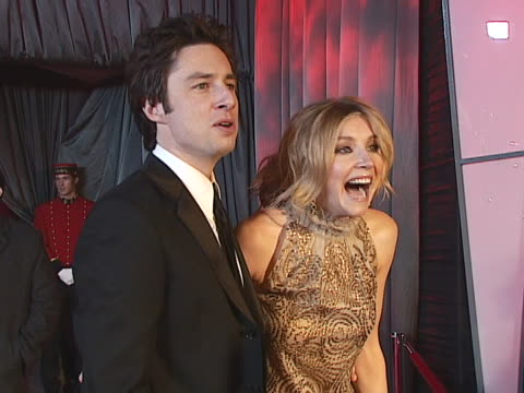 zach braff and sarah chalke at the nbc universal focus features golden globes party at - cast member stock videos & royalty-free footage