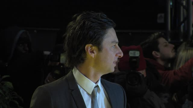 zach braff at 'oz the great powerful' european premiere at empire leicester square on february 28 2013 in london england - zach braff stock videos & royalty-free footage