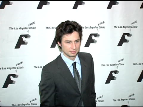 zach braff at the friends of the los angeles free clinic's 28th annual dinner gala at the regent beverly wilshire hotel in beverly hills california... - zach braff stock videos & royalty-free footage