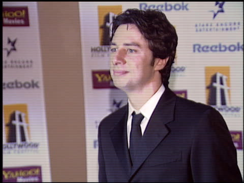 zach braff at the hollywood film festival awards at the beverly hilton in beverly hills california on october 18 2004 - zach braff stock videos & royalty-free footage