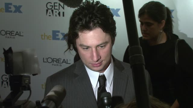 zach braff at the 'the ex' premiere at director's guild of america in new york, new york on may 3, 2007. - director's guild of america stock videos & royalty-free footage