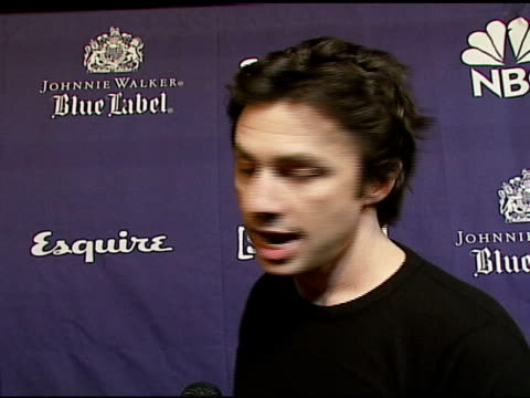 zach braff on the new 6th season of scrubs and the musical episode they do on the event tonight on the charity angle of painting the scrubs on... - zach braff stock videos & royalty-free footage