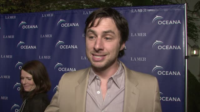 zach braff on what he has learned from oceana and how he is changing his life because of it at the oceana's annual partners award gala honoring... - oceana stock videos & royalty-free footage