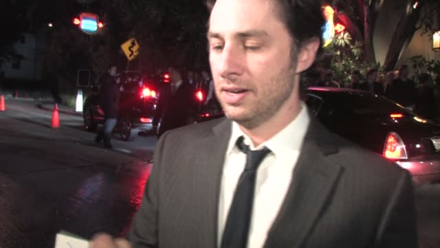 Zach Braff outside Chateau Marmont in West Hollywood at the Celebrity Sightings in Los Angeles at Los Angeles CA