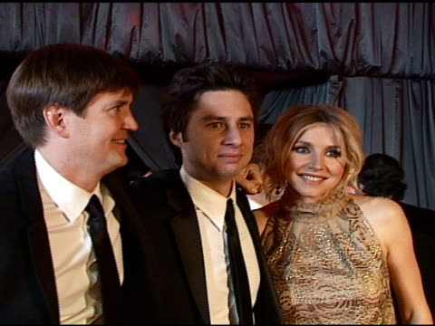 zach braff sarah chalke at the nbc universal and focus features 2007 golden globes party on january 15 2007 - sarah chalke stock videos & royalty-free footage